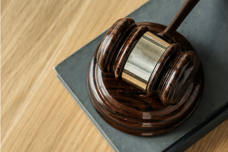 a judges hammer in legal court